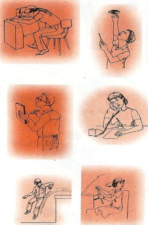 حالات نادرست بدن در هنگام کار