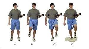 ورزش حفظ تعادل با دمبل