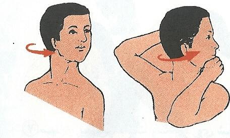 چرخاندن سر به سمت راست برای بهبود درد گردن
